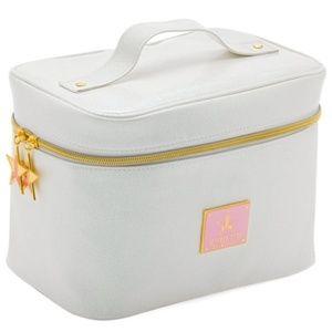 Jeffree Star White/Pink Glitter Travel Makeup Bag